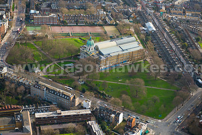 Aerial view of The Imperial War Museum, London