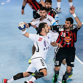 Josip VALČIĆ of PPD Zagreb, Ilija ABUTOVIĆ of Vardar during the Final Tournament - Final Four - SEHA - Gazprom league, semi f...