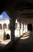old fondouk or caravanserais, used to give shelter to merchants and pilgrims, Houmt Souq, Jerba, Tunisia