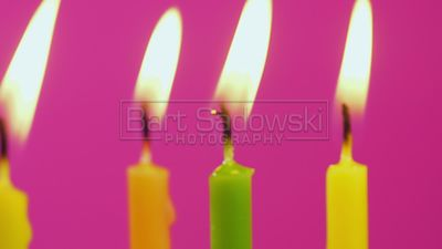 4K footage of Birthday candles