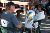 Artist drawing a portrait, Victoria & Alfred Waterfront, Cape Town, South Africa