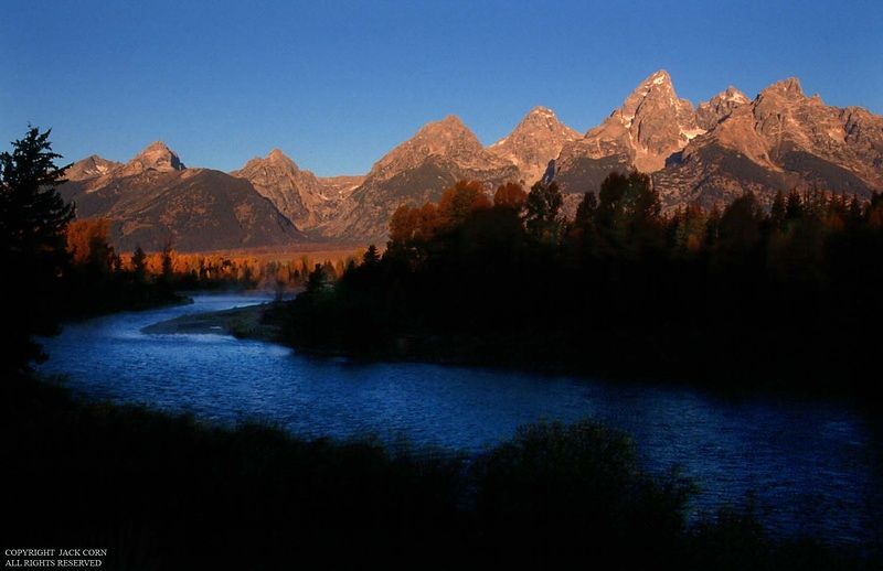 Snake rivermand Tetons, dawn