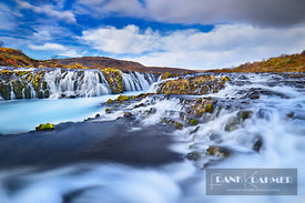 Waterfall Bruarfoss - Europe, Iceland, Southern Region, Bruarfoss - digital