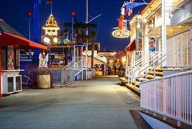 Newport Beach Balboa Fun Zone at Night Picture