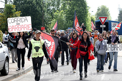 Demo against bullfight in France