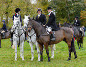 Will Seth-Smith, Marcus Collie at the meet - Cottesmore Hunt Opening Meet, 24/10/2017