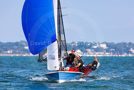 Racing in Poole Harbour during Zhik Poole Week 2018
