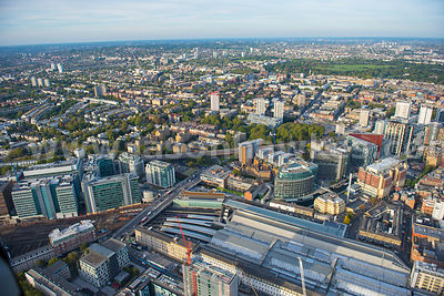 Aerial view of Paddington, London