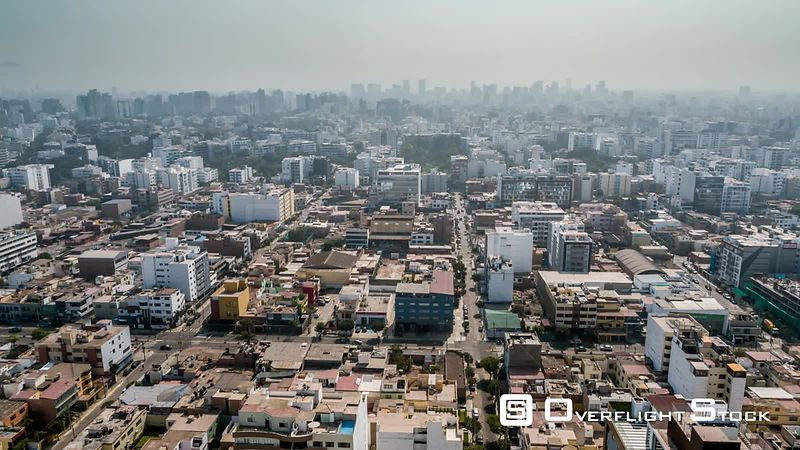 Aerial view of Lima suburb, Peru