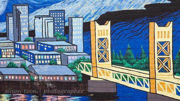 Mural of downtown Sacramento