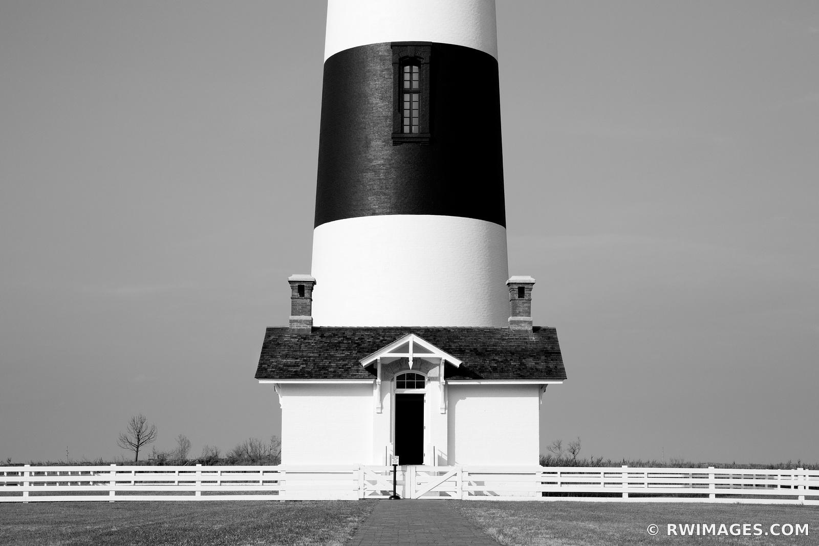 BODIE ISLAND LIGHTHOUSE NAGS HEAD OUTER BANKS NC BLACK AND WHITE
