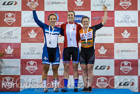 Women Sprint Podium. 2017 Canadian Track Championships, September 29, 2017