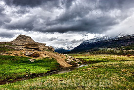 Soda Butte with Approaching Storm