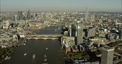 London Aerial Footage of Southwark towards Blackfriars Bridges