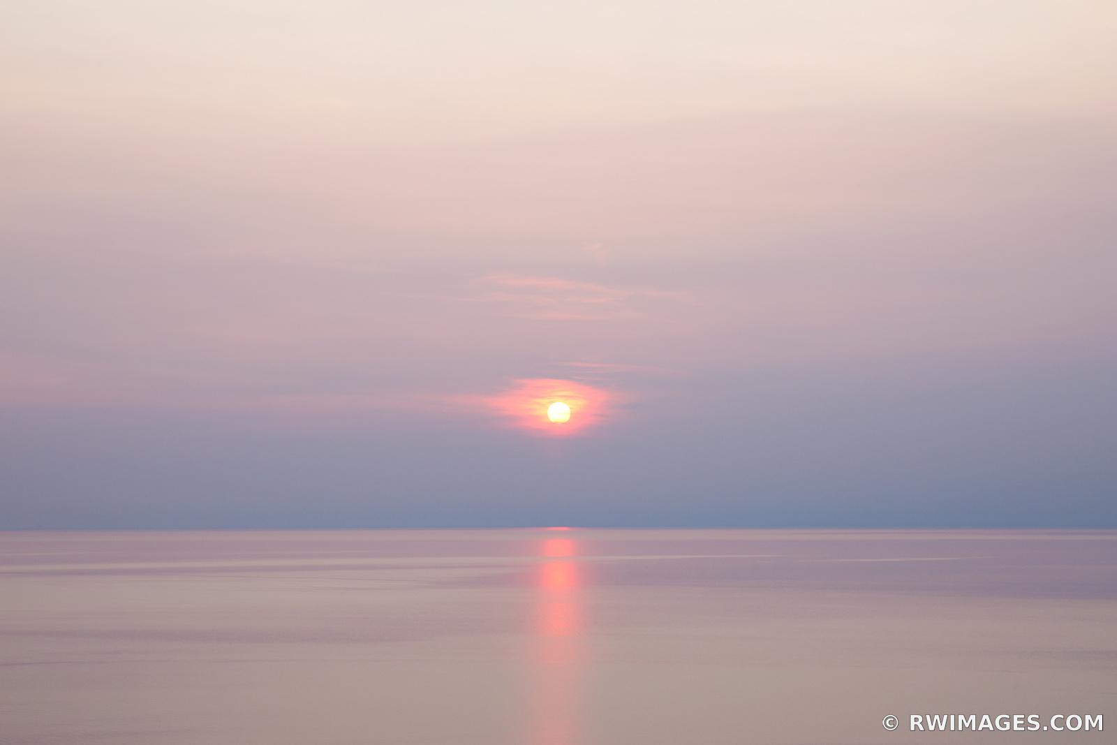 LAKE MICHIGAN SUNSET SLEEPING BEAR DUNES MICHIGAN COLOR