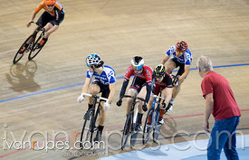 Junior Men Keirin 7-12 Final. Canadian Track Championships (U17/Junior), April 3, 2016