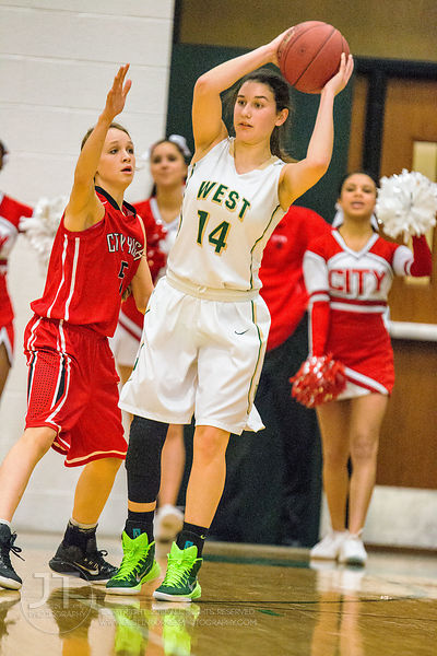 PC - Girl's Basketball, Iowa City High vs Iowa City West, February 13, 2015