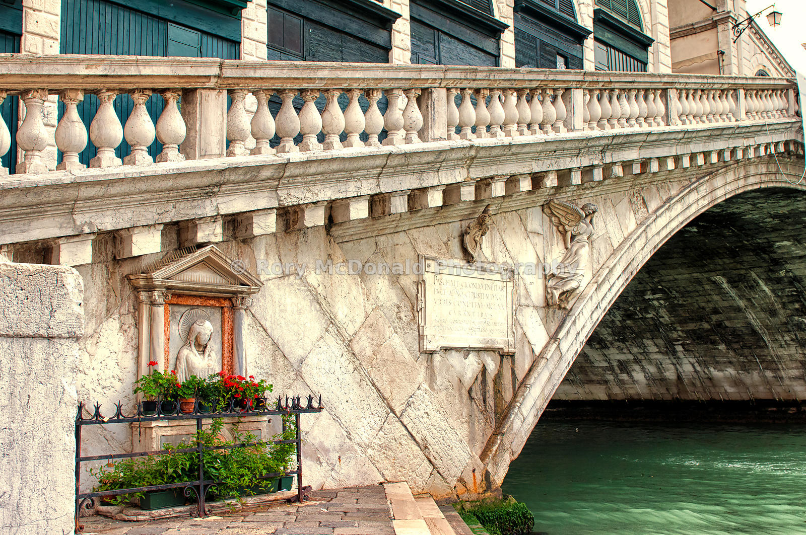 Foot of the Rialto Bridge, Venice