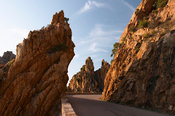 Road among cliff and rocks