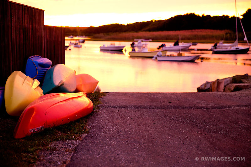 COLORFUL KAYAKS SUNSET MARTHA'S VINEYARD