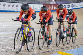 U17 Women Team Pursuit 1-2 Final. Canadian Track Championships (Jr, U17, Para), April 14, 2019