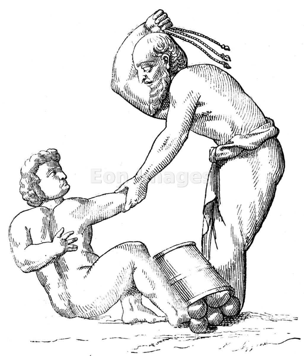 Slave whipped by Roman master