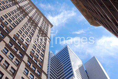 Tall office buildings in downtown Dallas, Texas