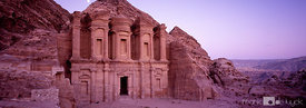 The Monastery temple at Petra's World Heritage site.