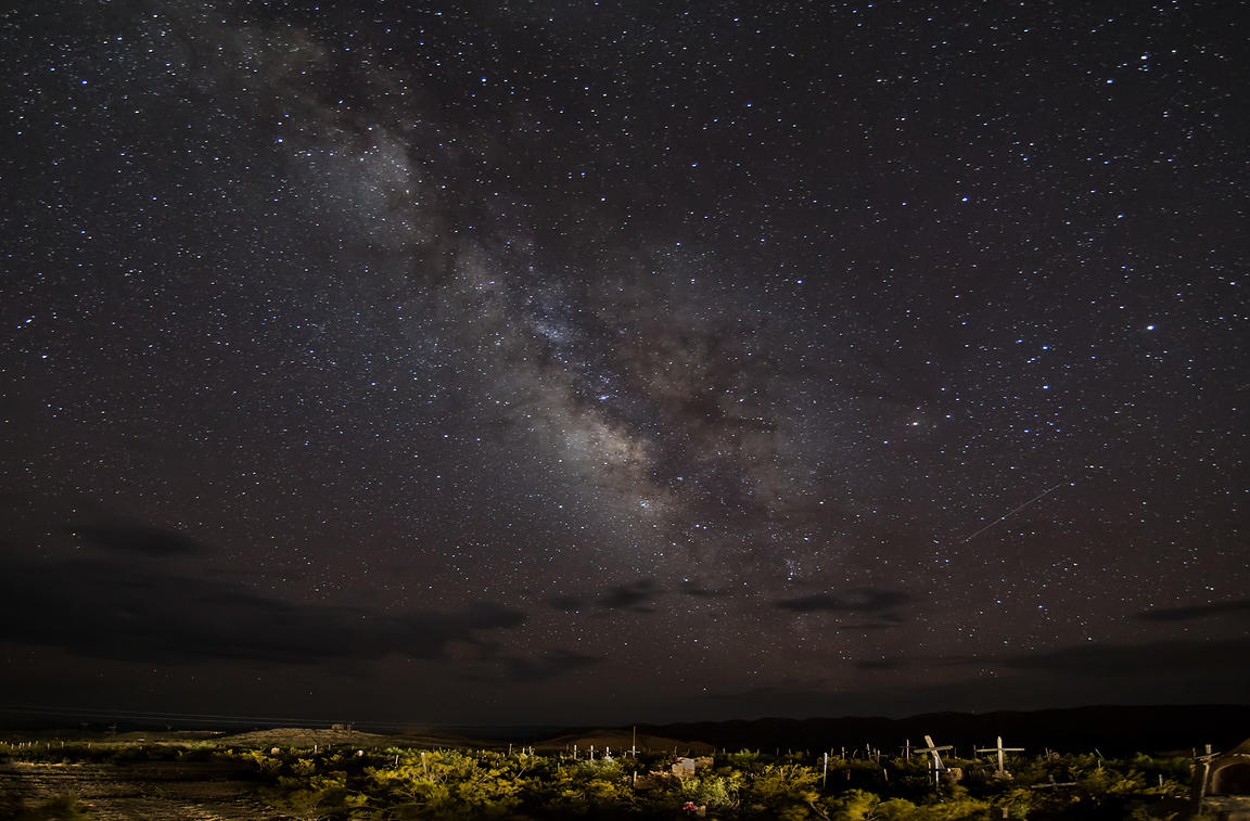Milky Way and Meteor Over Terligua