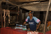 meat for sale at the market, market, Toliara, Madagascar