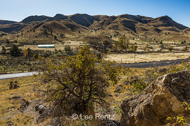 View from Clarno Unit of John Day Fossil Beds National Monument