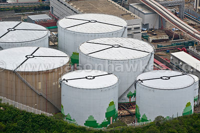 Aerial view of Gas Cylinders, Hong Kong
