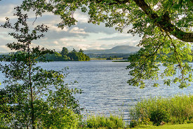 Lake of Menteith within the  Loch Lomond and Trossachs National Park in summer.