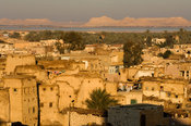 view over Siwa town from the Fortress of Shali, the Great Sand Sea, Western desert, Egypt