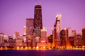 Picture of Chicago Skyline by Night