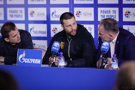 Stojanche Stoilov during the Final Tournament - Final Four - SEHA - Gazprom league, Press conference in Brest, Belarus, 06.0...