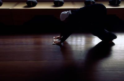 Japan - Hikone - A Zen monk of the Soto School cleans the meditation hall