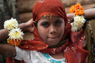 Girl in Jodhpur during the Muslim Muharram festival, Rajasthan, India