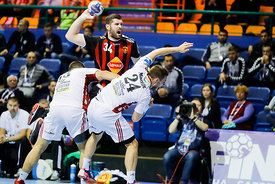 Vuko Borozan and Gasper Marguc during the Final Tournament - Final Four - SEHA - Gazprom league, Gold Medal Match Vardar - Te...