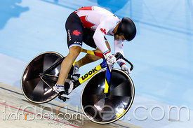 Men's Team Sprint Finals, Track Day 1, Toronto 2015 Pan Am Games, Milton Pan Am/Parapan Am Velodrome, Milton, On; July 16, 2015