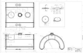 D-sheet erection drawings for the tank