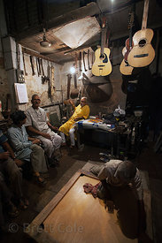 A custom guitar making shop in Kalighat. Kolkata, India.