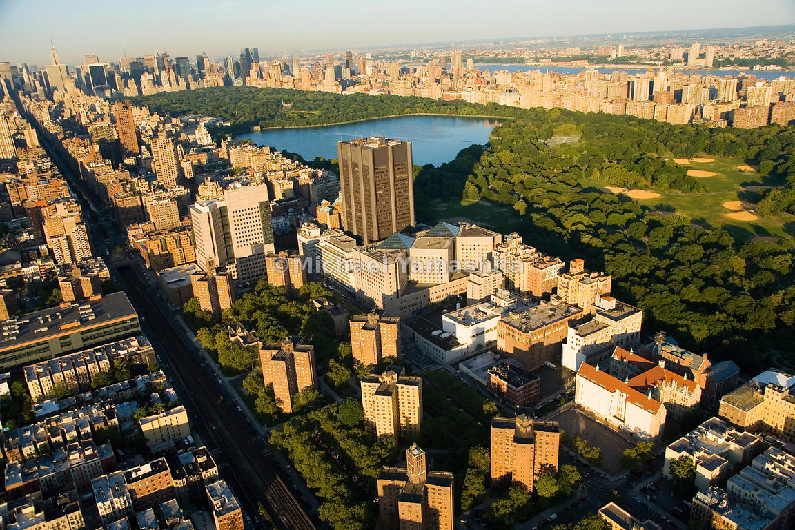 Many patients at the Mount Sinai Hospital Medical Center, at the northwest corner of Central Park, have the benefit of a soot...