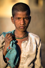 Boy from a low-income family, Pushkar, Rajasthan, India