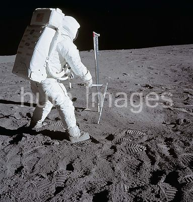 (20 July 1969) --- Astronaut Edwin E. Aldrin Jr., lunar module pilot, is photographed during the Apollo 11 extravehicular act...