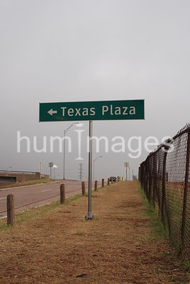 Texas Plaza sign near old Texas Stadium in Irving, TX