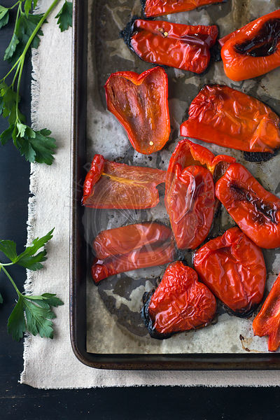 Oven-Roasted Red Peppers