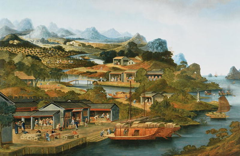 The China Tea Trade, 1790-1800 (oil on canvas)