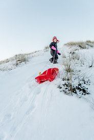 Danish girl sledding 3