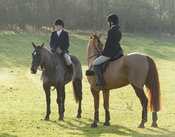 Jodie Nicholls, Natalie Marsh At the meet. The Cottesmore Hunt at Hill Top Farm 11/12